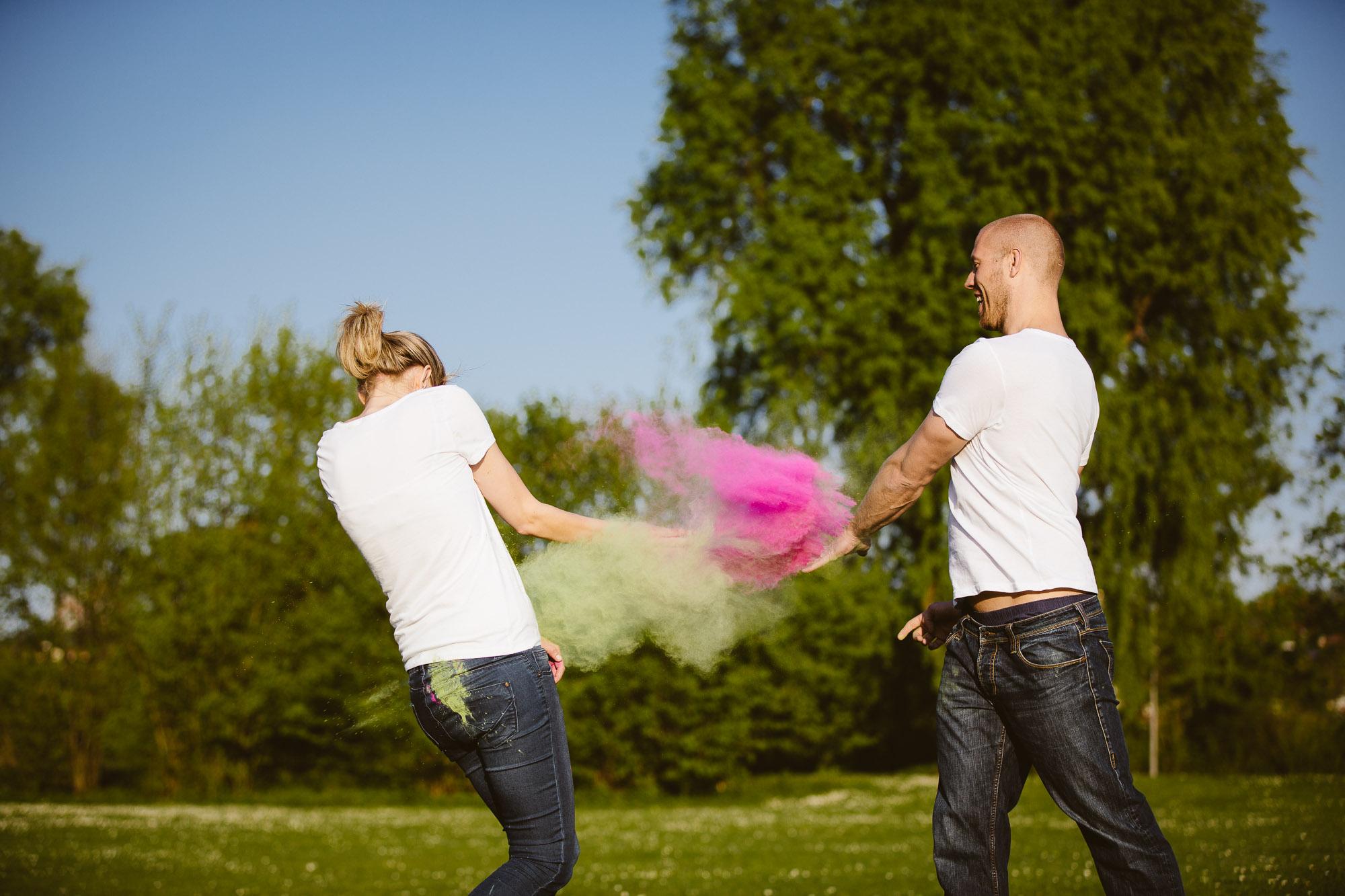 Karo und Stefan Engagement Foto Avec Amis-119