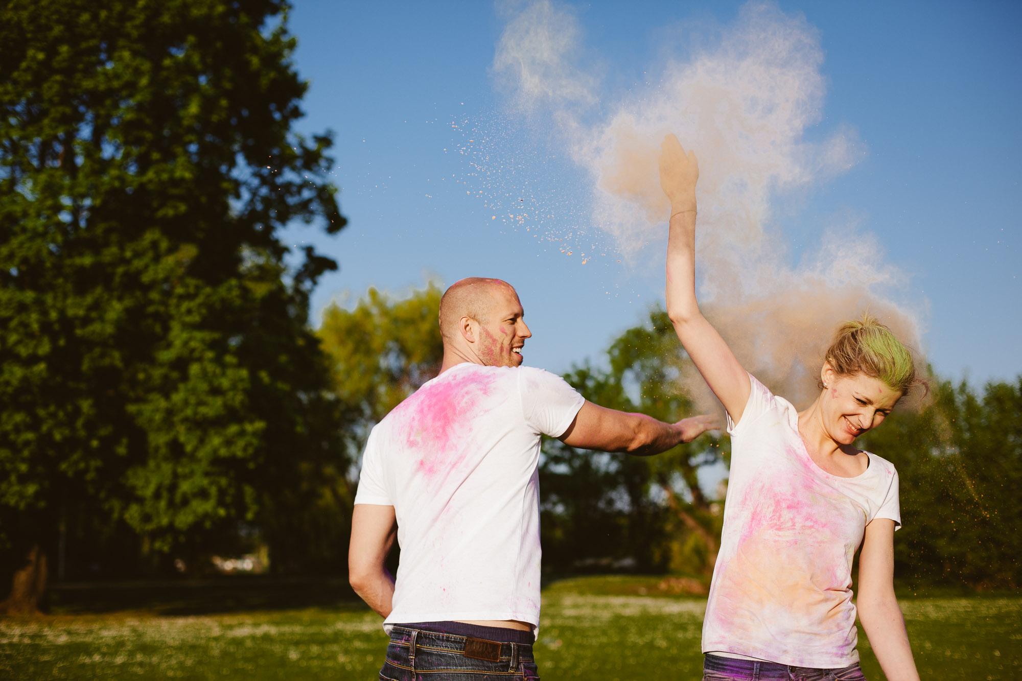 Karo und Stefan Engagement Foto Avec Amis-166