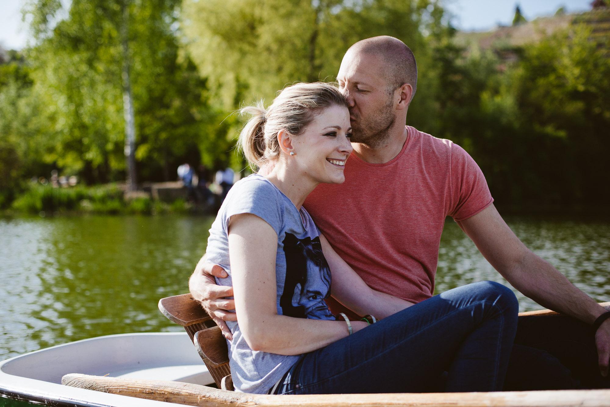 Karo und Stefan Engagement Foto Avec Amis-26